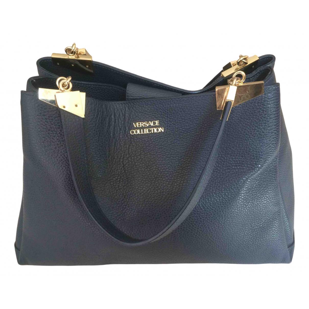 Versace \N Handtasche in  Marine Leder
