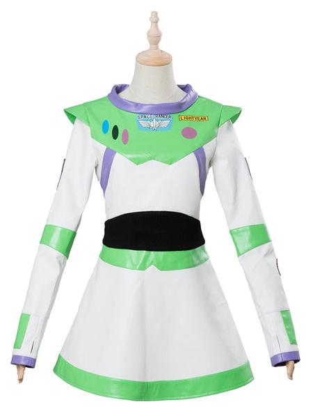 Milanoo Toy Story 4 Cosplay Buzz Lightyear Light Green Faux Leather Film Set Disney Cartoon Costume Halloween