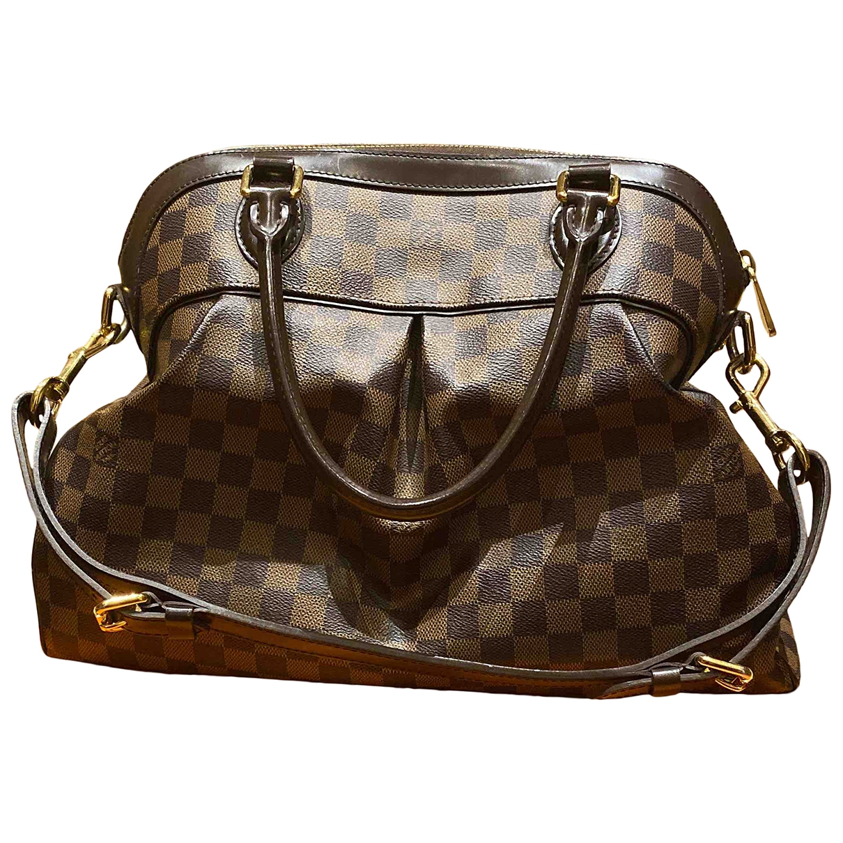 Louis Vuitton Trevi Handtasche in  Braun Leinen