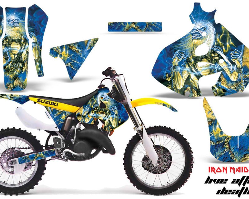 AMR Racing Dirt Bike Graphics Kit Decal Sticker Wrap For Suzuki RM125 1999-2000 IM LAD