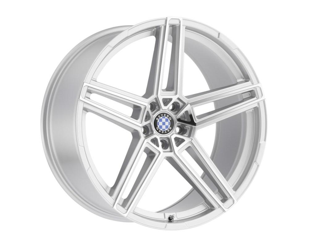 Beyern Gerade Wheel 18x9.5 5x120 35mm Silver w/ Mirror Cut Face