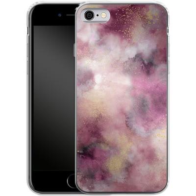 Apple iPhone 6 Silikon Handyhuelle - Smoky Marble Watercolor Pink von Ninola Design