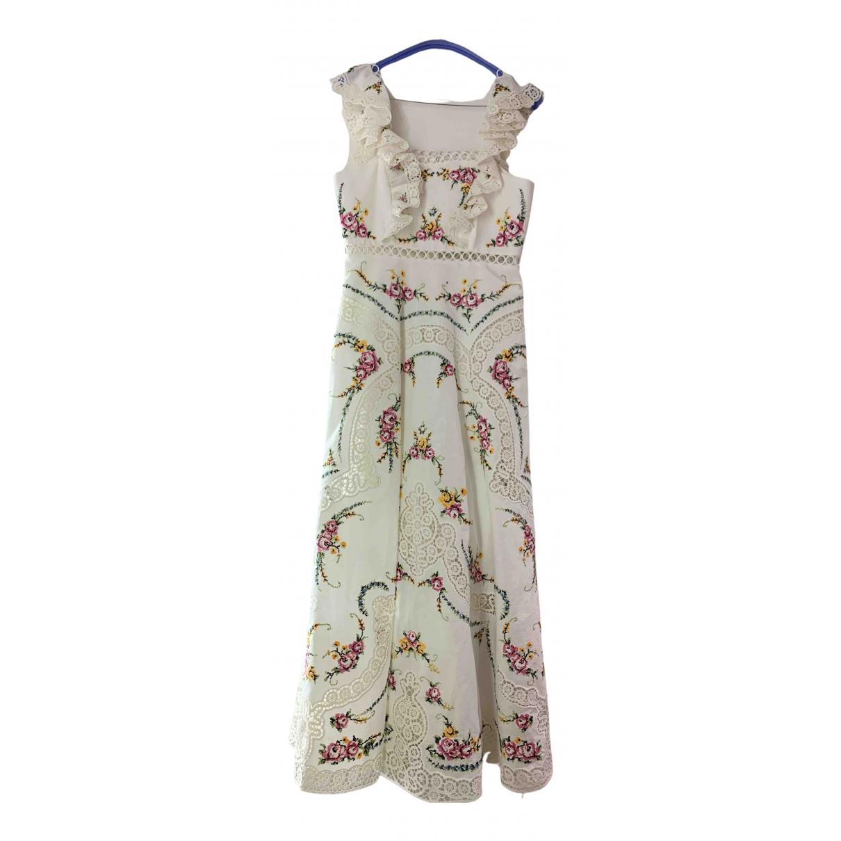 Zimmermann \N White Linen dress for Women 1 0-5