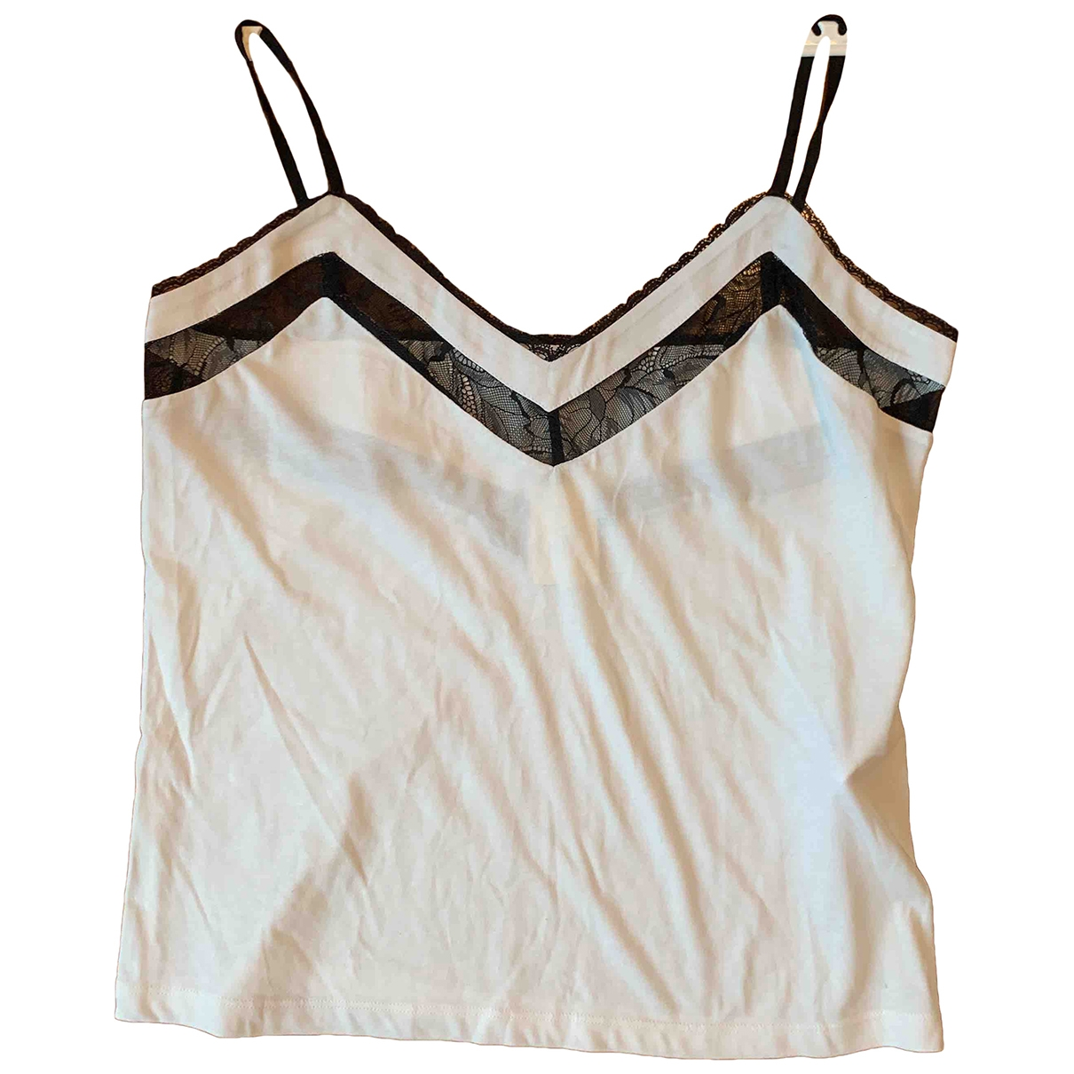 Maje - Top   pour femme en coton - blanc