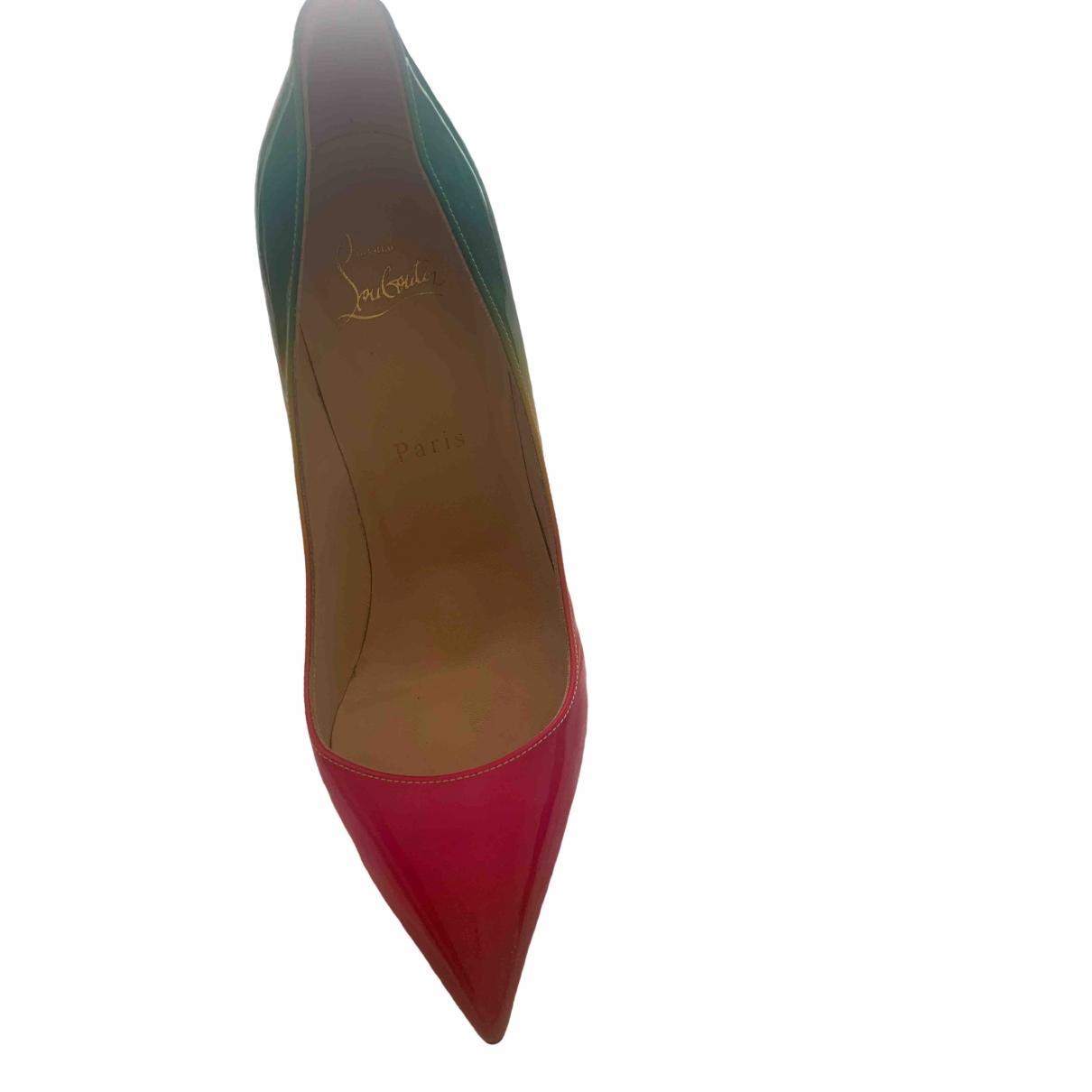Christian Louboutin Pigalle Multicolour Patent leather Heels for Women 38.5 EU