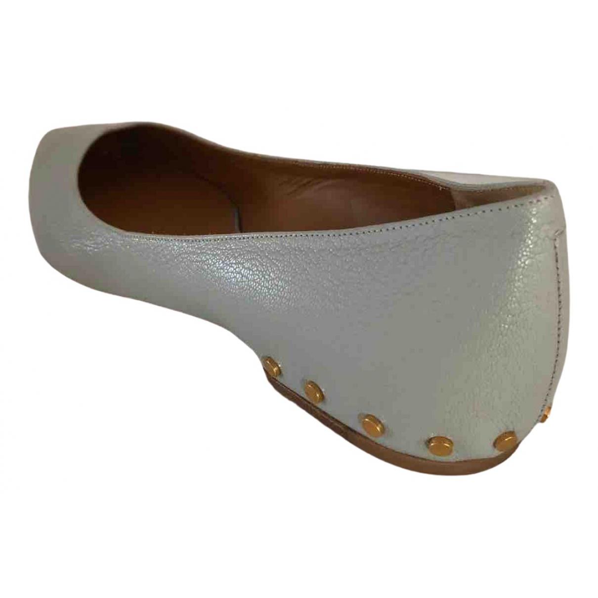 Chloé \N Grey Leather Ballet flats for Women 41.5 IT