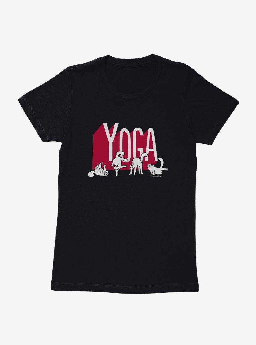 Simon's Cat Yoga Cats Womens T-Shirt