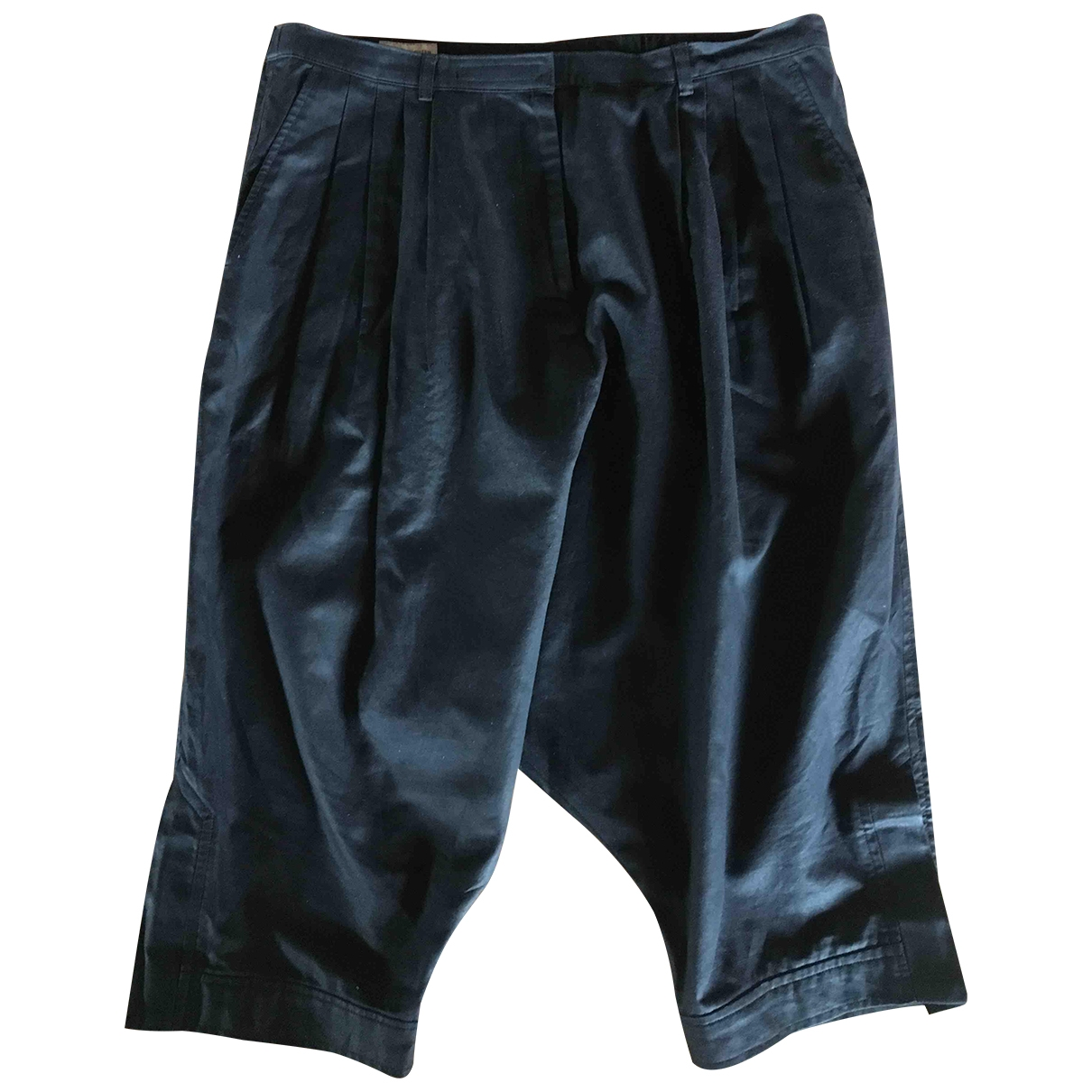 Dries Van Noten \N Black Cotton Trousers for Women 38 FR