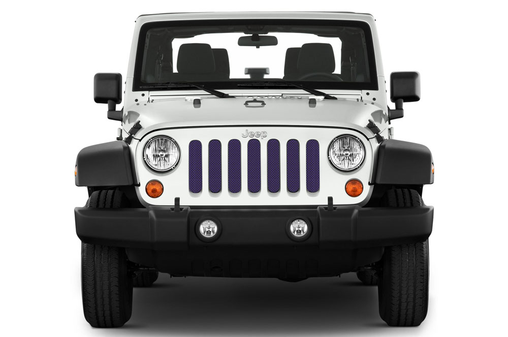 Jeep Gladiator Grill Inserts 2020-Present Gladiator Deep Amethyst Pearl Under The Sun Inserts INSRT-SLDDPAMT-JT