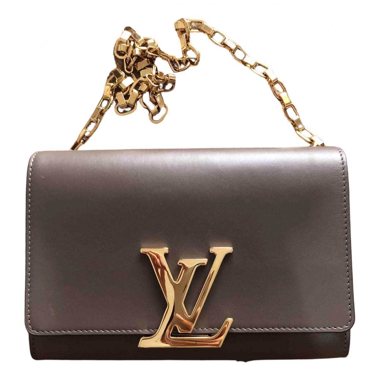 Louis Vuitton Louise Grey Leather Clutch bag for Women N