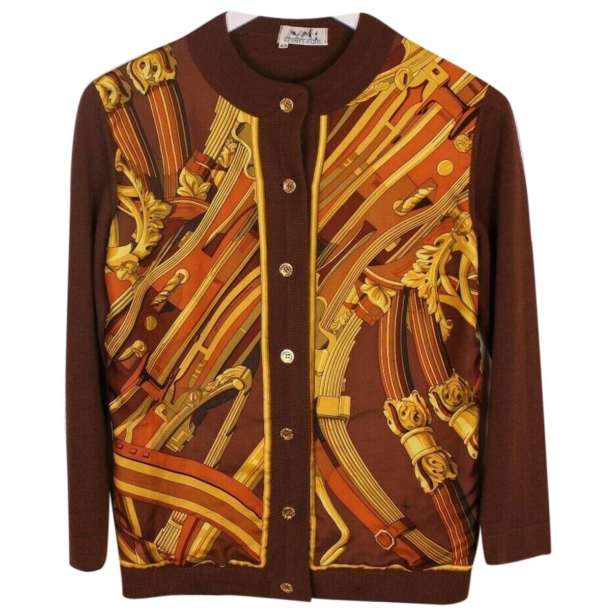 Hermes \N Pullover in  Braun Wolle