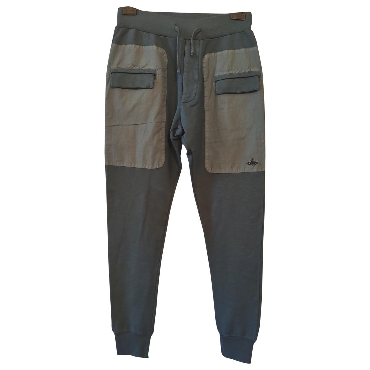 Vivienne Westwood \N Grey Cotton Trousers for Men M International