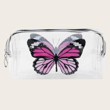 1pc Butterfly Print Makeup Bag