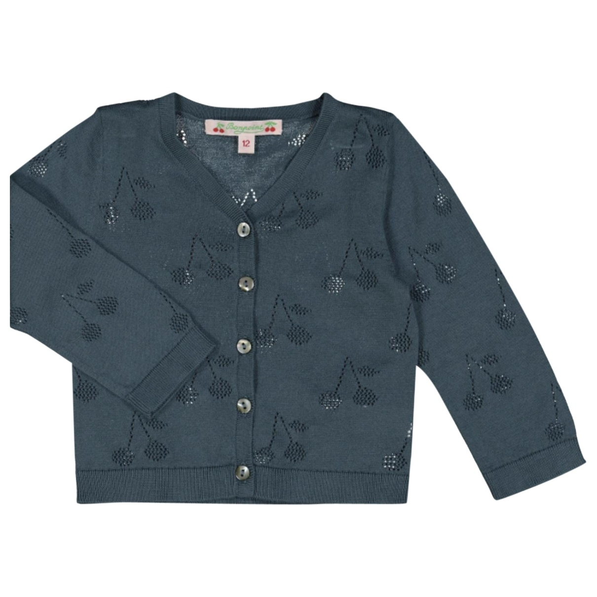 Bonpoint \N Blue Cotton Knitwear for Kids 3 months - up to 60cm FR
