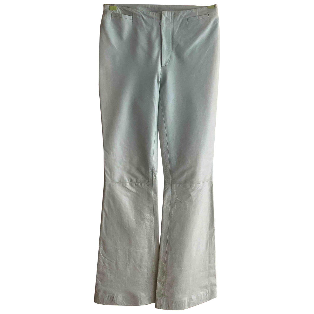 Gucci N Turquoise Leather Trousers for Women 40 IT