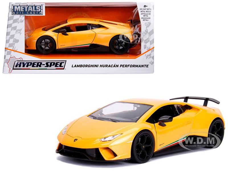 Lamborghini Huracan Perfomante Metallic Yellow 1/24 Diecast Model Car by Jada