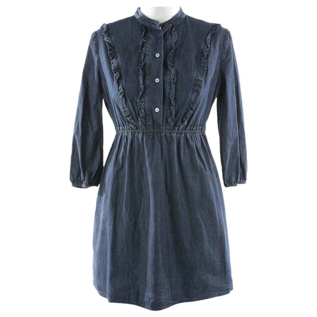 Miu Miu - Robe   pour femme en coton - bleu