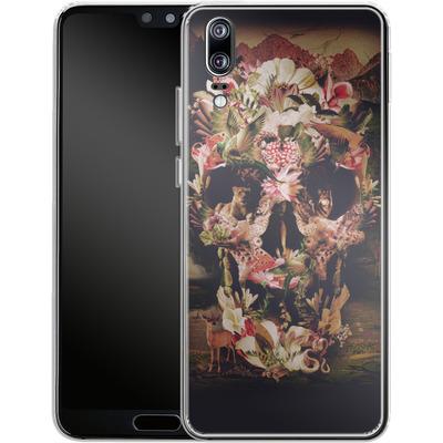 Huawei P20 Silikon Handyhuelle - Jungle Skull von Ali Gulec