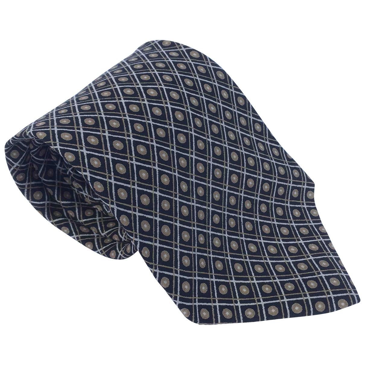 Yves Saint Laurent \N Krawatten in  Anthrazit Seide
