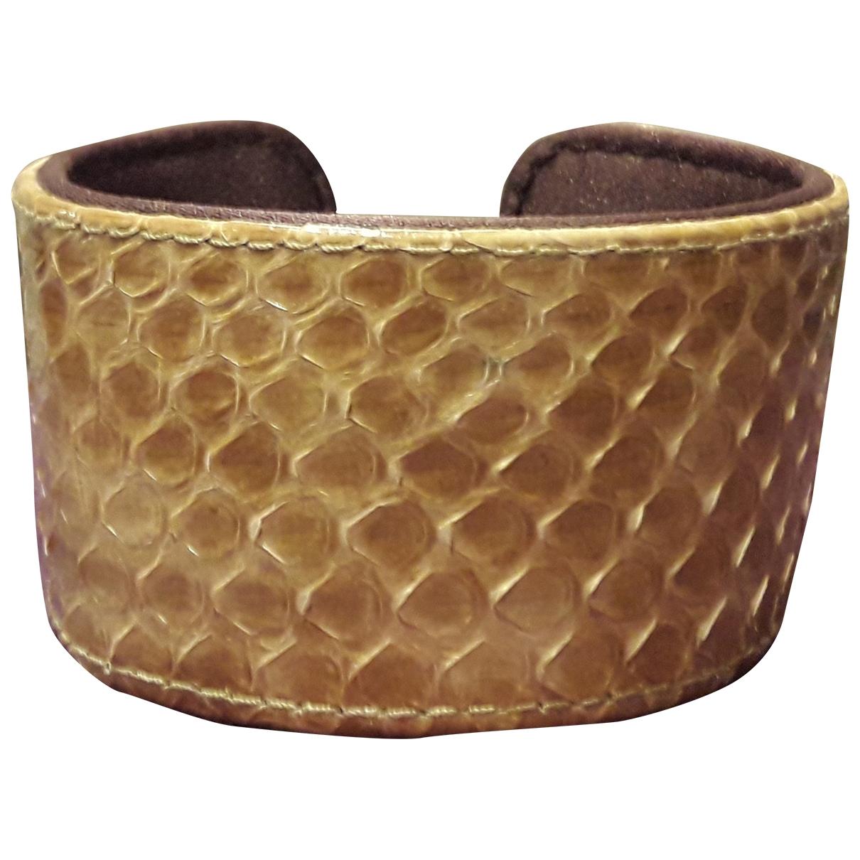 Maliparmi - Bracelet   pour femme en cuir - beige