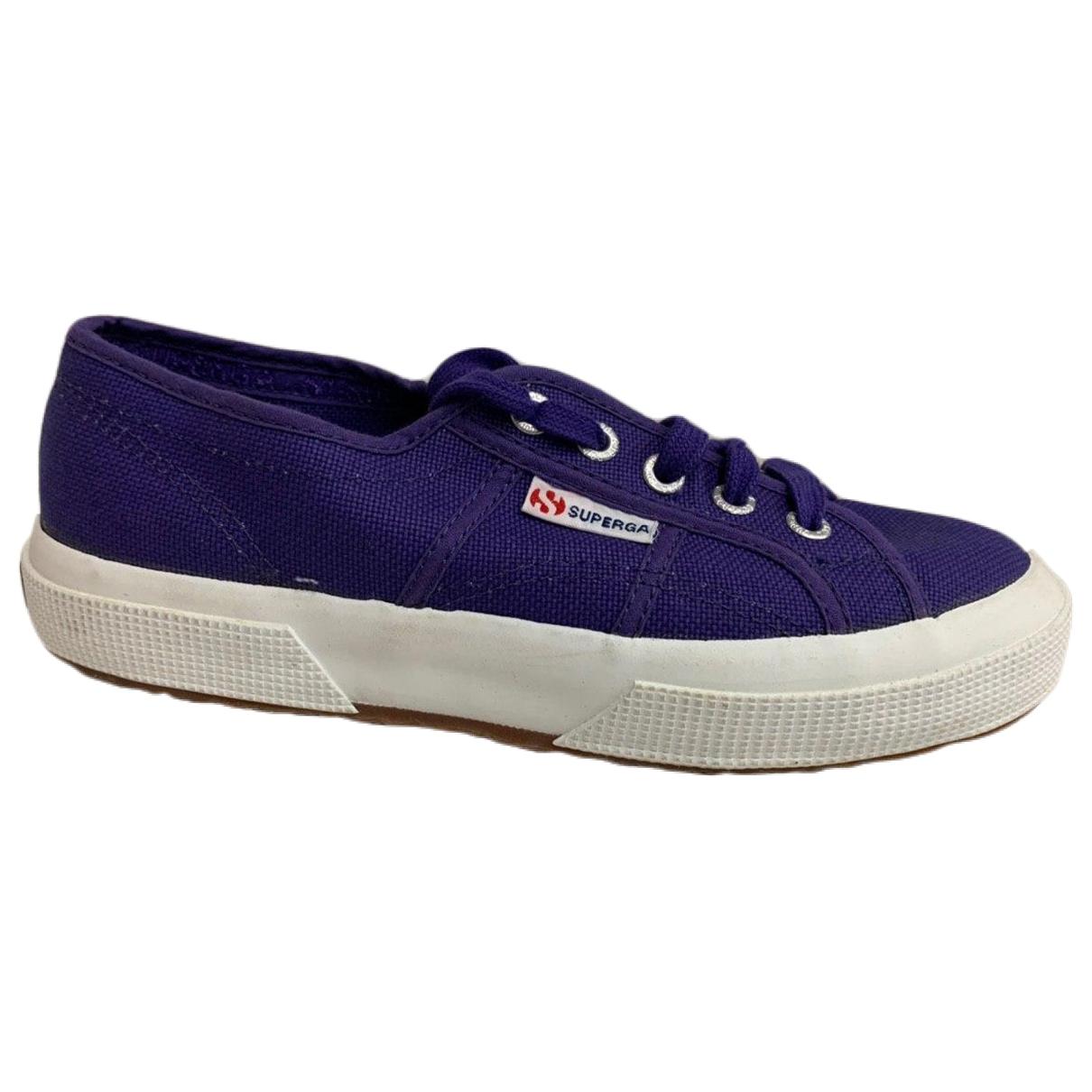 Superga - Baskets   pour femme en toile - violet