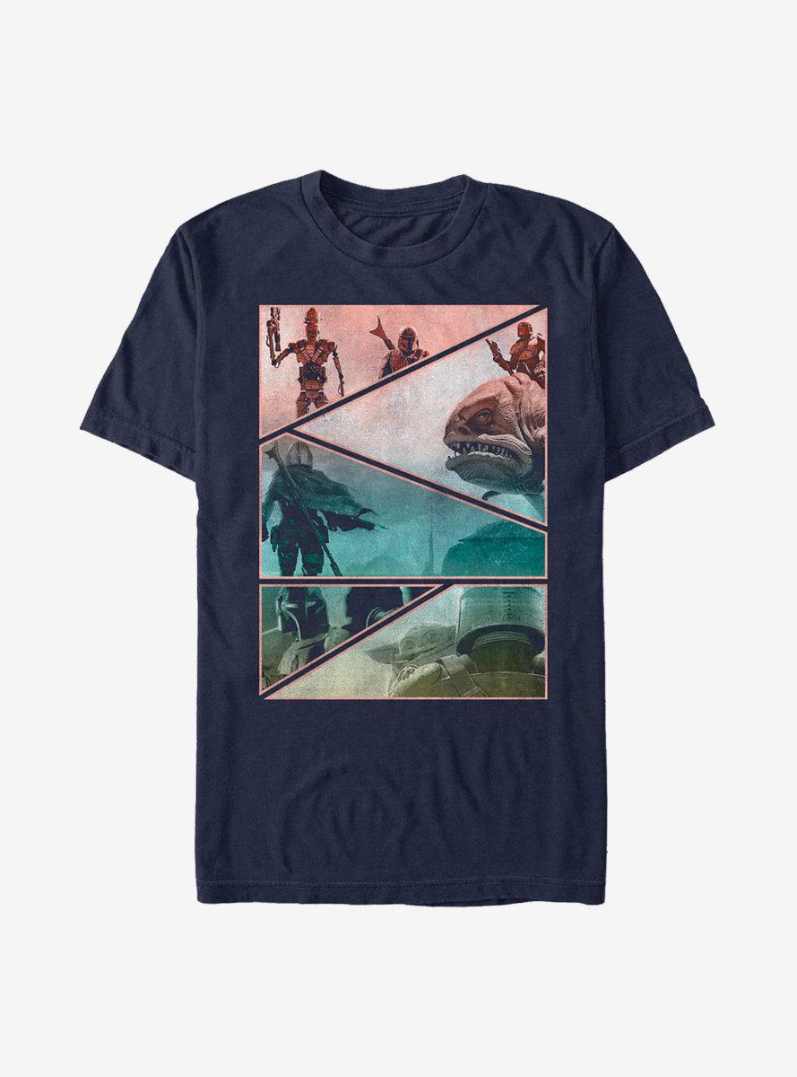 Sta Wars The Mandalorian Mando Panels T-Shirt