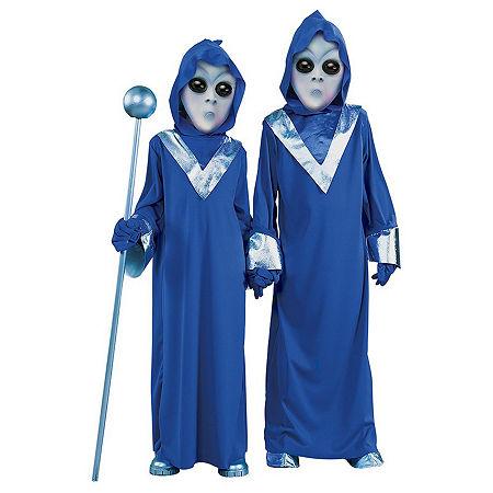 Complete Alien Costume Unisex Costume, 8-10 , Blue