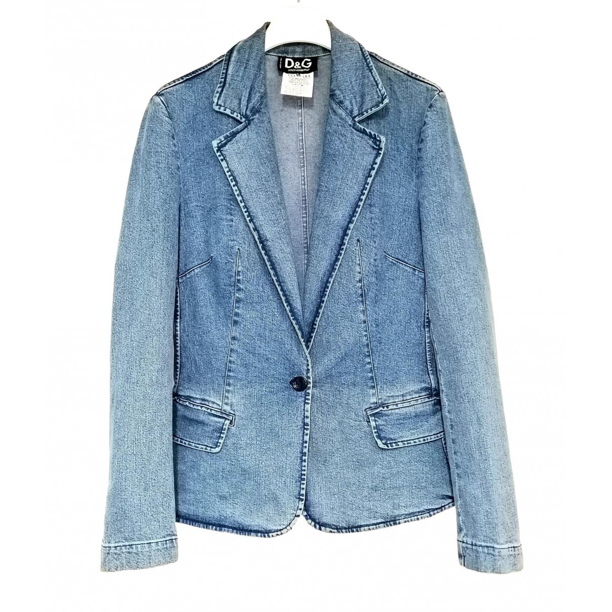 Dolce & Gabbana \N Blue Denim - Jeans jacket for Women 42 IT