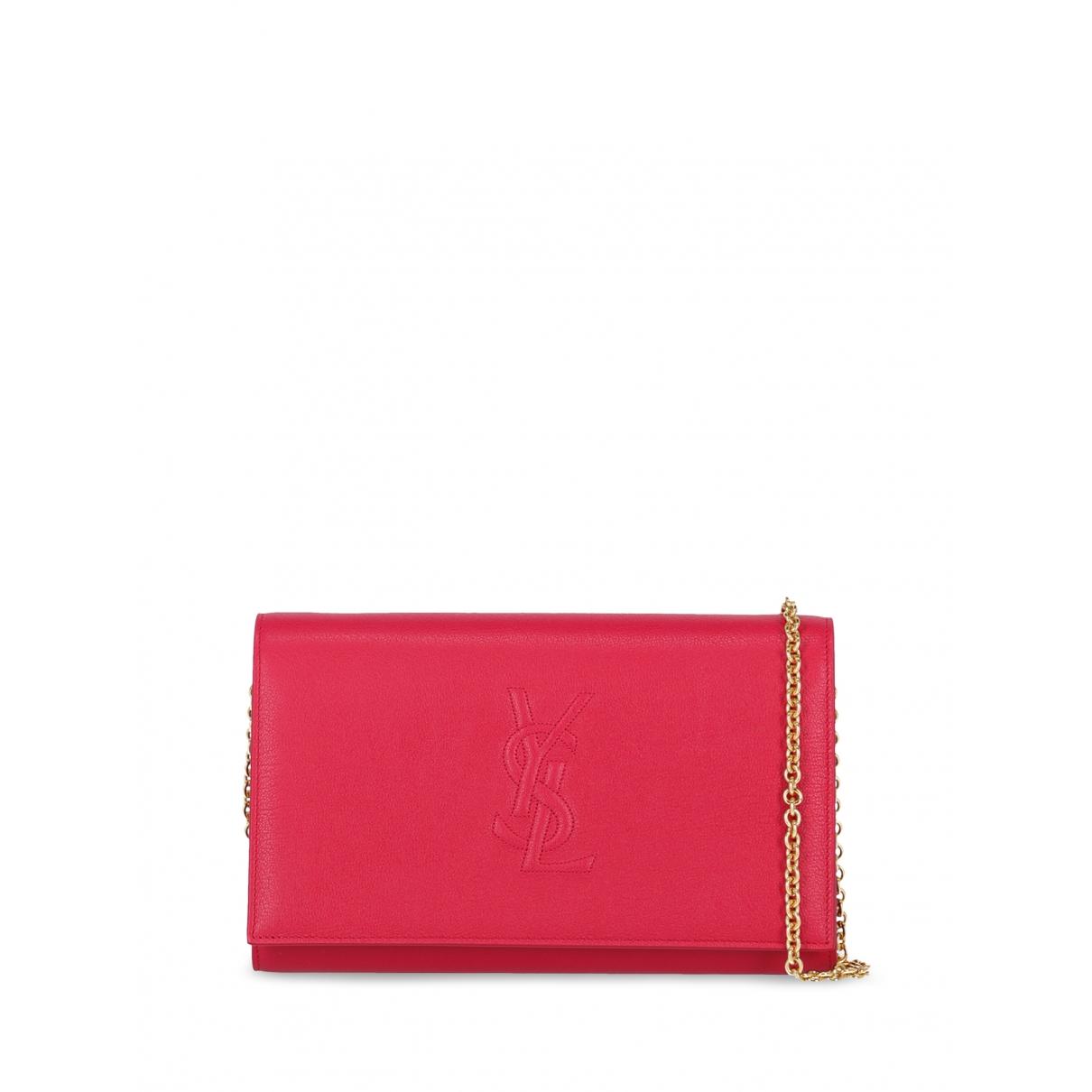Saint Laurent \N Pink Leather Clutch bag for Women \N