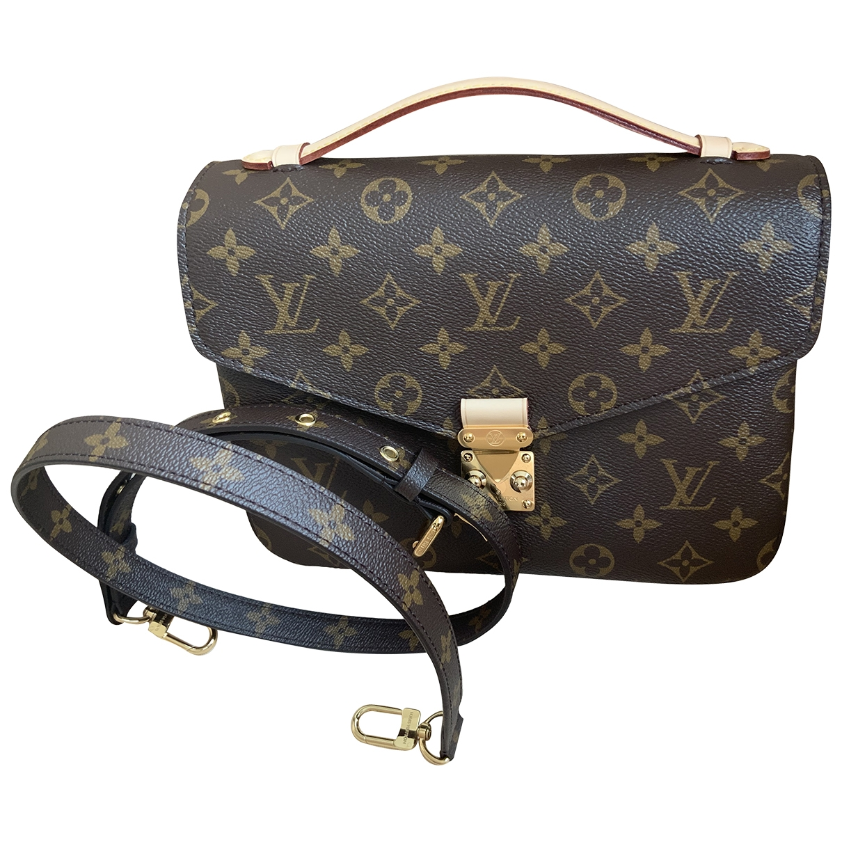 Louis Vuitton Metis Brown Cloth handbag for Women \N