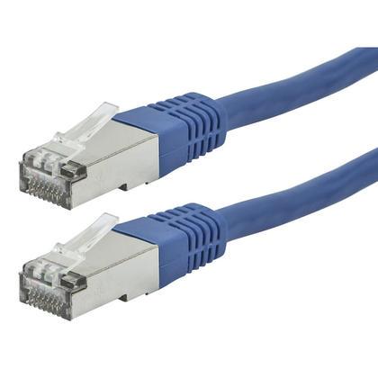 Série ZEROboot câble de raccordement réseau Ethernet Cat6A 26AWG STP - bleu - Monoprice® - 7pi