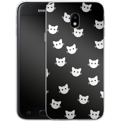 Samsung Galaxy J3 (2017) Silikon Handyhuelle - Cat Pattern von caseable Designs