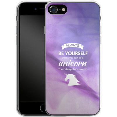 Apple iPhone 8 Silikon Handyhuelle - Be A Unicorn von Statements