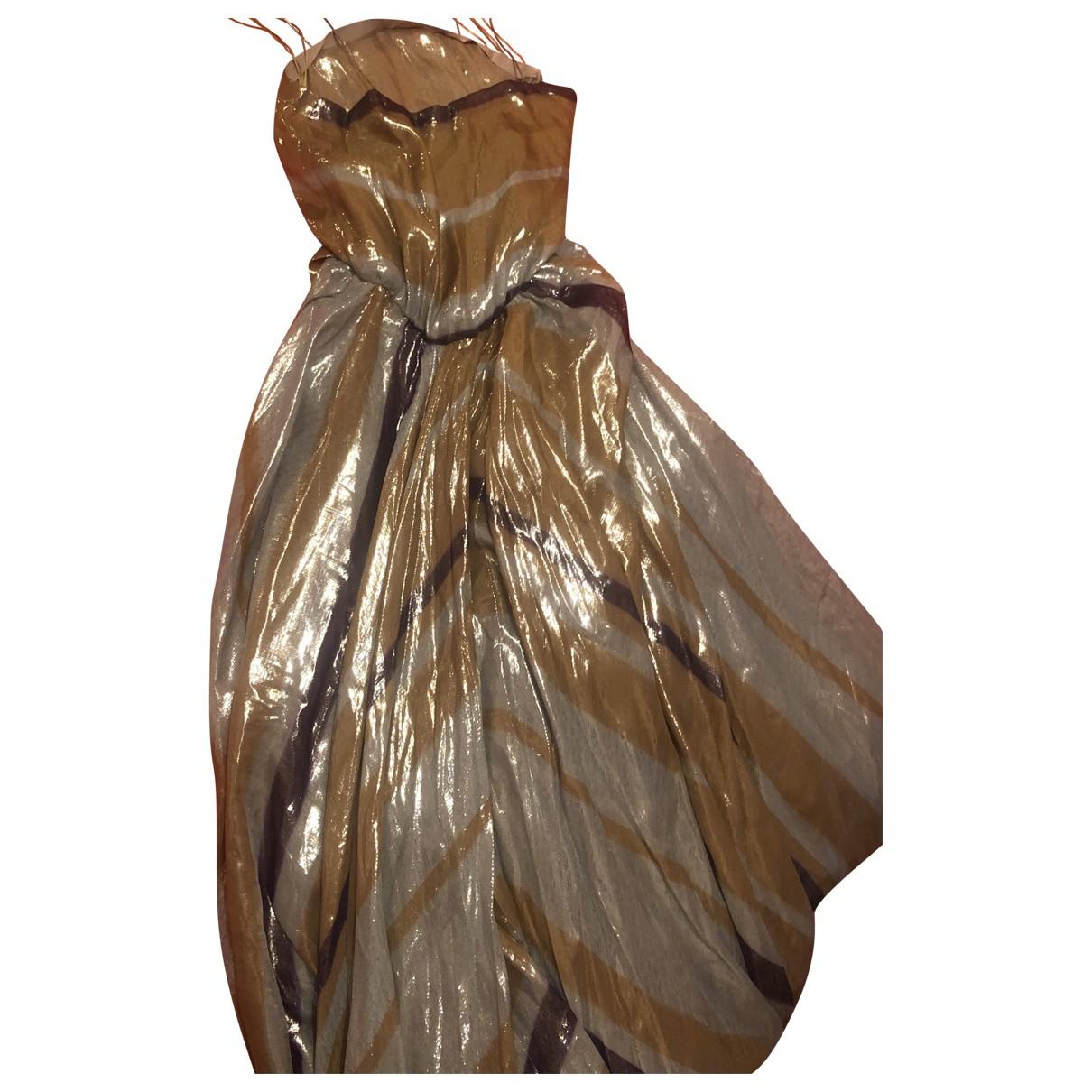Lanvin \N Kleid in  Gelb Polyester