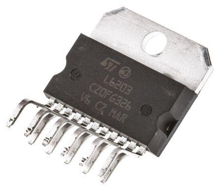 STMicroelectronics L6203,  Brushed Motor Driver IC, 48 V 4A 11-Pin, MULTIWATT V (25)