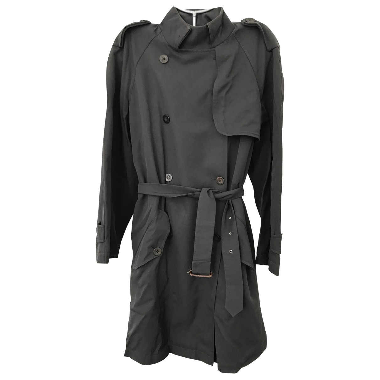 Jean Paul Gaultier \N Anthracite Cotton Trench coat for Women 42 FR