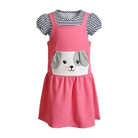 Sweetheart Rose Baby Girls Sleeveless 2-pc. Dress Set, 18 Months , Pink