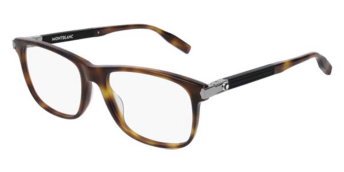 Mont Blanc MB0035O 004 Men's Glasses Tortoise Size 55 - Free Lenses - HSA/FSA Insurance - Blue Light Block Available