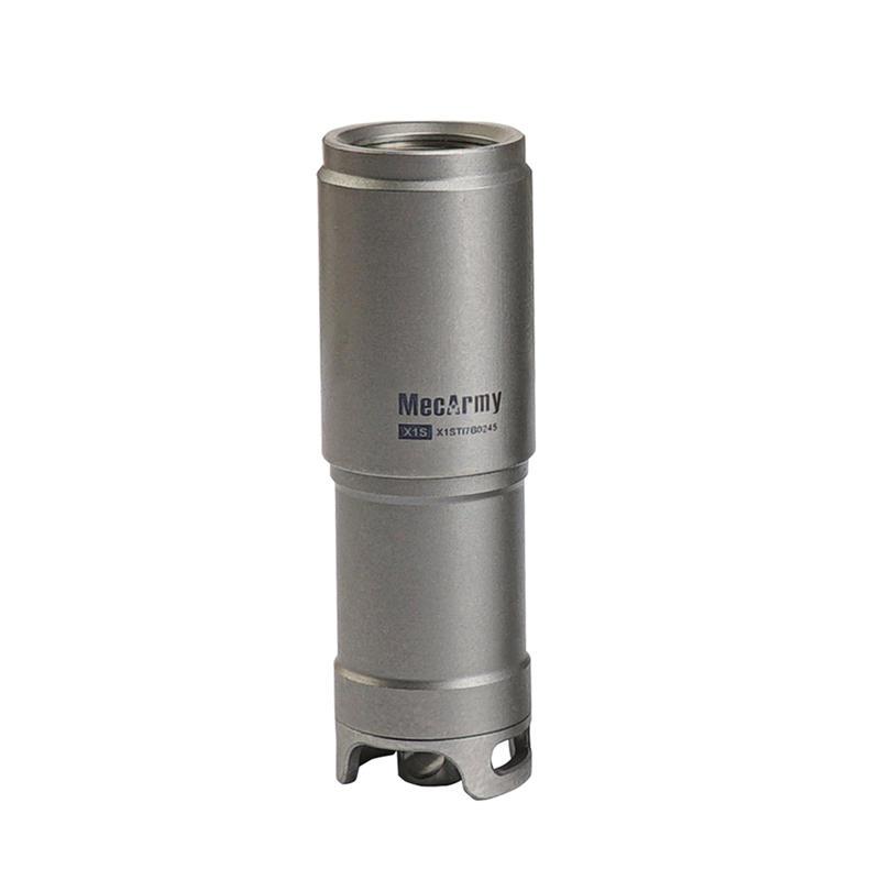 MecArmy Illumine X1S 130 Lumens Mini Rechargeable Titanium Keychain Flashlight Camping Emergency Lantern