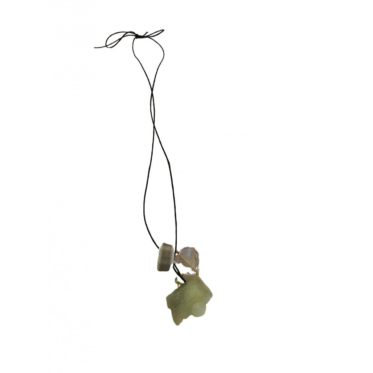 - Collier Motifs Ethniques pour femme en jade - vert