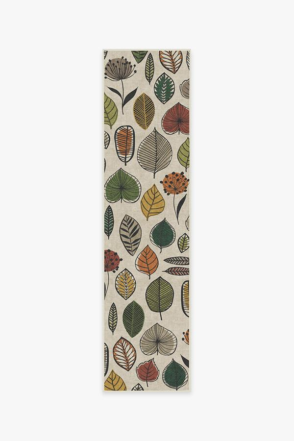 Washable Rug Cover & Pad | Folium Multicolor Rug | Stain-Resistant | Ruggable | 2.5'x10'