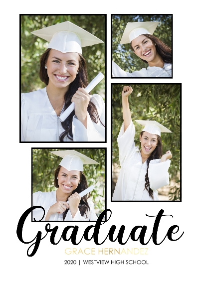 Graduation Set of 20, Premium 5x7 Foil Card, Card & Stationery -Graduate Frames
