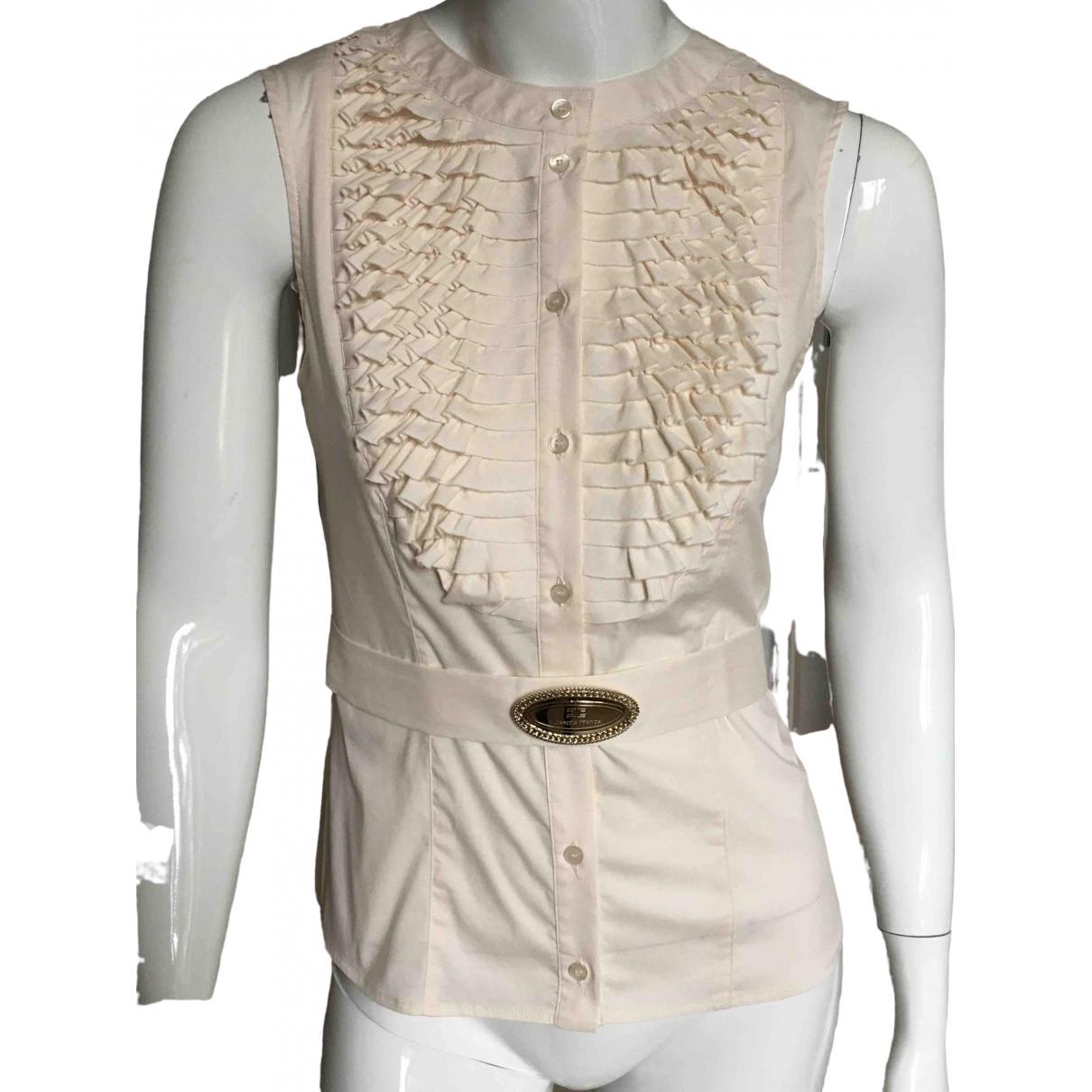 Elisabetta Franchi \N Pink Cotton  top for Women 42 IT