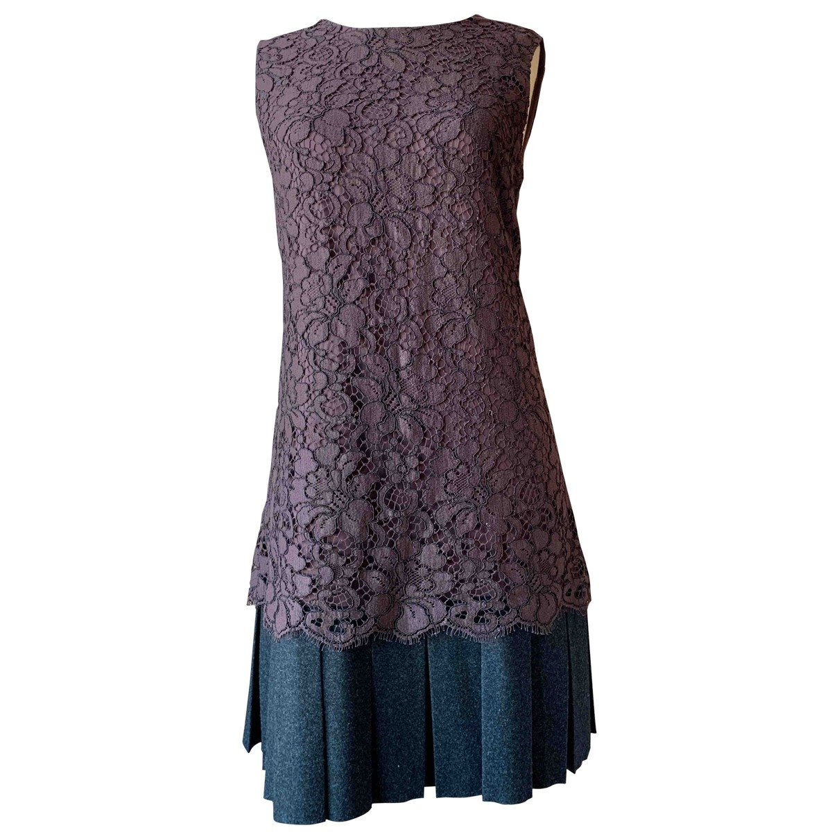 Dolce & Gabbana \N Burgundy Lace dress for Women 44 IT