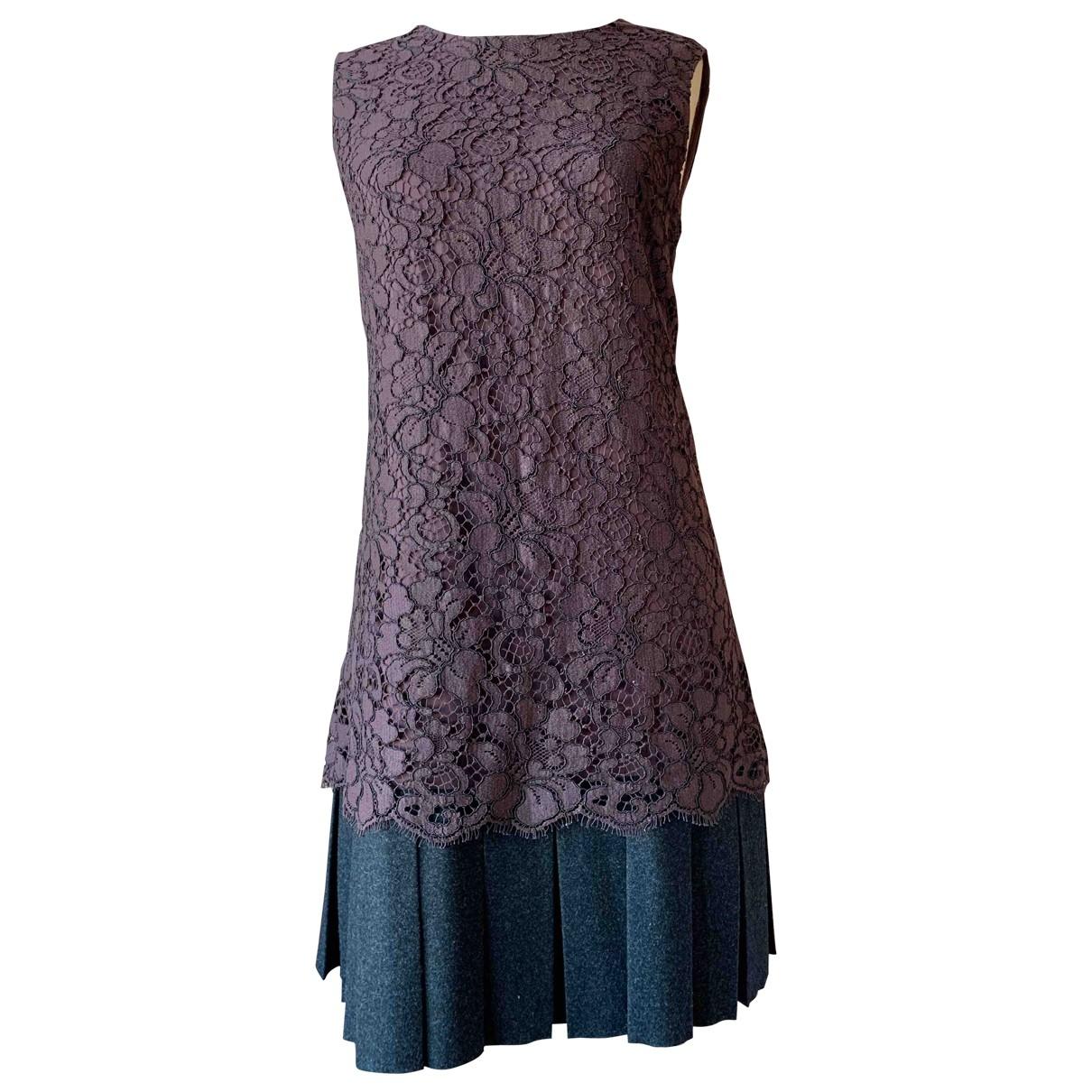 Dolce & Gabbana \N Burgundy Lace dress for Women 44 IT
