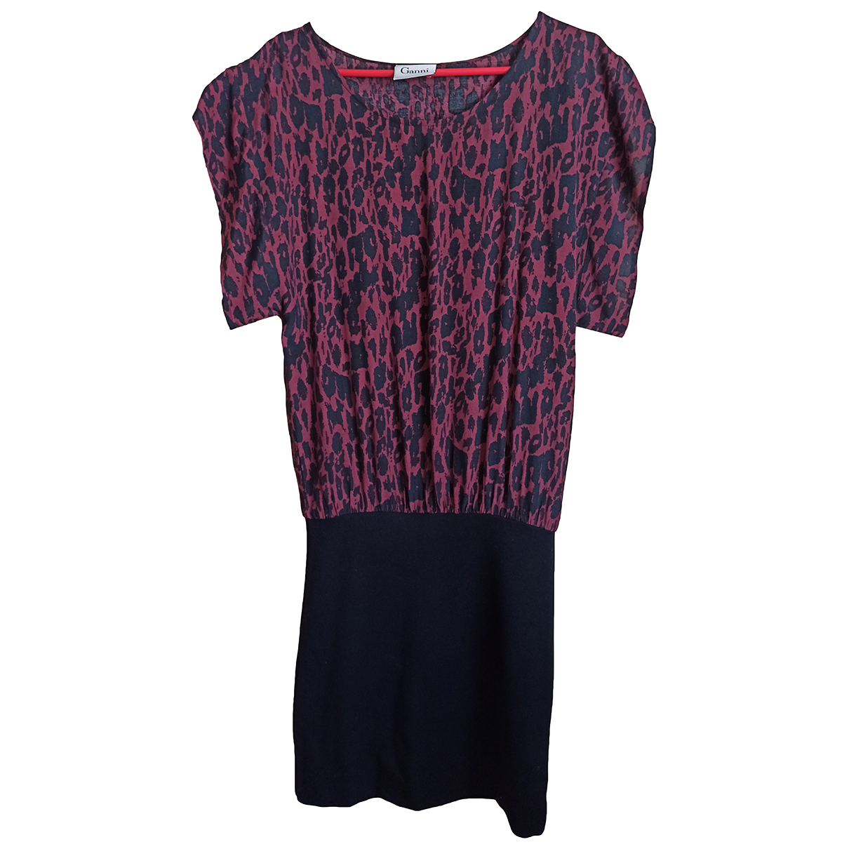 Ganni \N Kleid in  Bordeauxrot Polyester