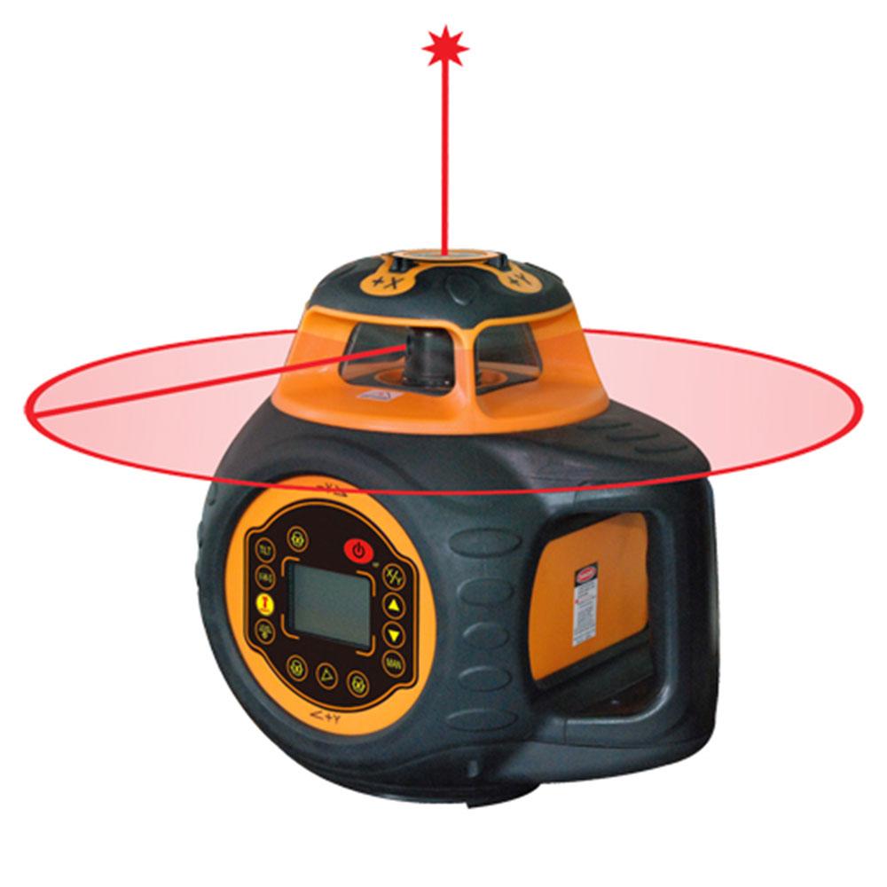 Electronic Self-Leveling Digital Dual Grade Rotary Laser Kit
