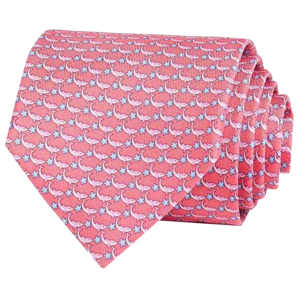 Salvatore Ferragamo - Cravates   pour homme en soie - rose