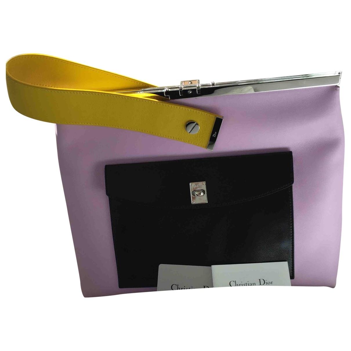 Dior \N Purple Leather Clutch bag for Women \N