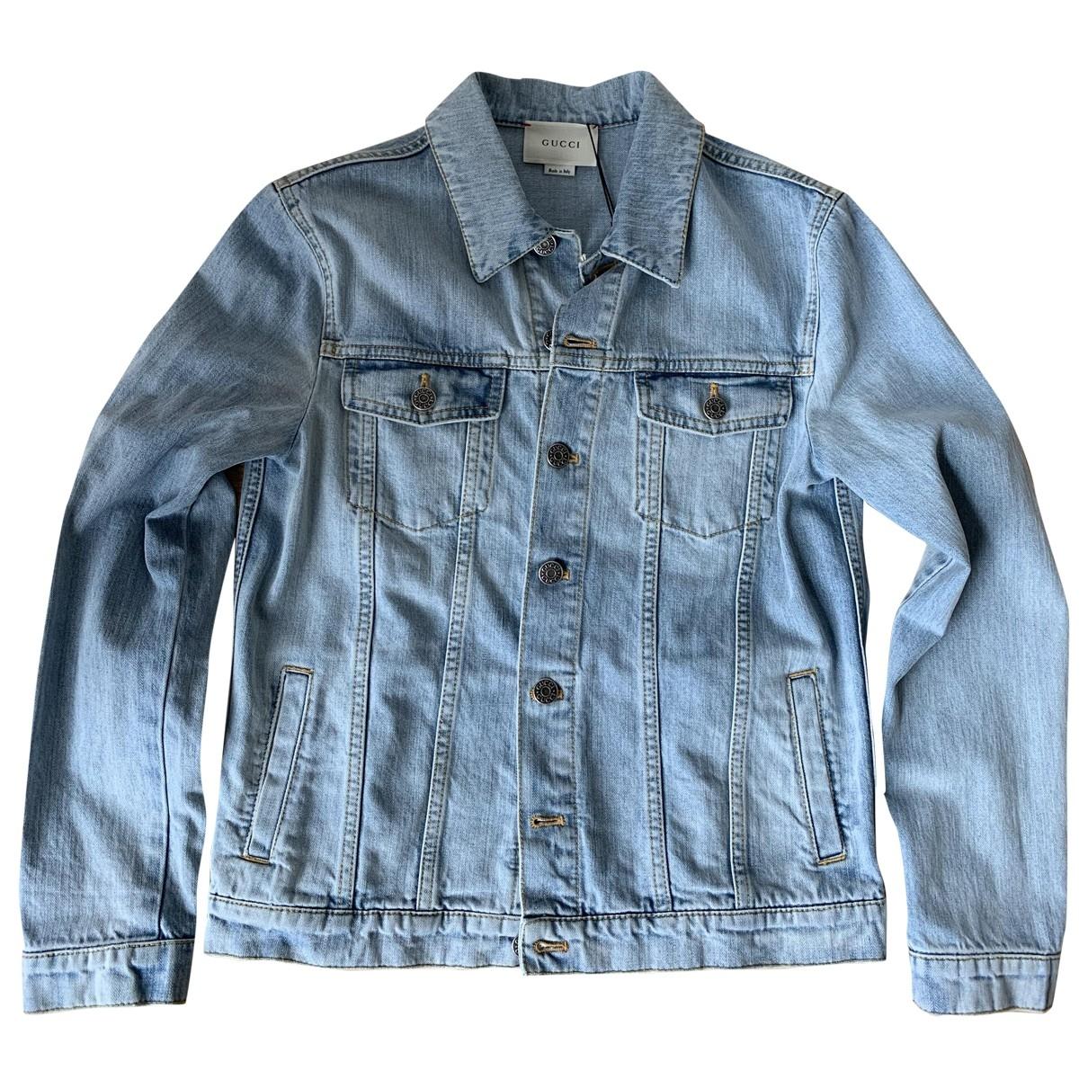 Gucci - Blousons.Manteaux   pour enfant en denim - bleu